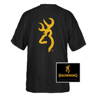 Browning Men's Buckmark Logo Hunting And Shooting T-Shirt (Black, Medium)
