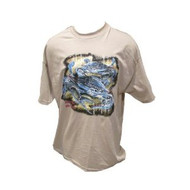 American Blue Crab T-Shirt (Medium, Navy)