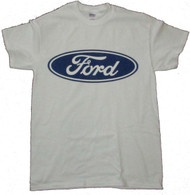 Ford Logo T-Shirt (White, XXL) [Misc.]