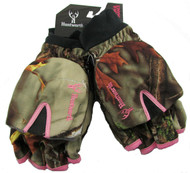 Huntworth Ladies Hunting Oaktree Camo Extreme Cold Pop-Top Womens Glove (Large)