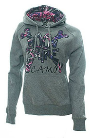 Muddy Girl Solid Gray Hoodie (S)