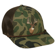 Outdoor Cap Throw Back Generic Wildlife Camo Mesh Back Hunting Hats (Camo Deer)
