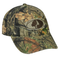 Mossy Oak Country Camo Frayed Patch Logo Hunting Hat