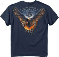 Buck Wear Men's Nar-Gun Wing Eagle T-Shirt, Blue Dusk, 2X
