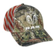 Dodge Ram Mossy Oak Country Americana Patriotic Hat / Cap