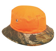 Mossy Oak Break Up/ Blaze Orange Reversible Boonie Bucket Style Hunting Outdo...