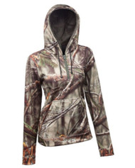 Huntworth Women's Performance Fleece Camo Hunting Hoodie (Small)