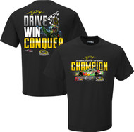 NASCAR #18 Kyle Busch Championship Conquer M&M Racing Black T-Shirt (Medium)