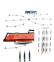 Strike Point Tackle 36'' Super Dredge & Teaser Kit Pink Fish Strips