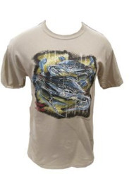 American Blue Crab T-Shirt (Medium, Sand)