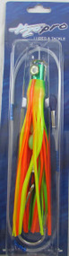 Mahi Mouthful Skirted Rigged Trolling Lure Green/Chartreuse/Orange