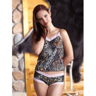 WILDERNESS DREAMS MOSSY OAK PINK LACE CAMISOLE - XXLARGE