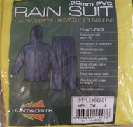 Yellow Huntworth Mens .20mm PVC Rain Suit (Large) (Large)
