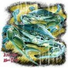 American Blue Crab T-Shirt (Large, Black)