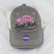 Youth Girls Just Fish Cap