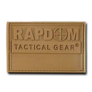 Rapdom Tactical Canvas Patche - Size 3 X 2 inch - RAPDOM Coyote