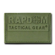 Rapdom Tactical Canvas Patche - Size 3 X 2 inch - RAPDOM Olive
