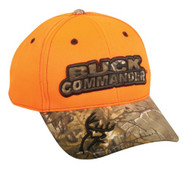 Buck Commander Large Camo Logo Blaze Hunting Cap