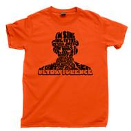 Ultraviolence Orange T Shirt Stanley Kubrick A Clockwork Orange Droog Orange Tee