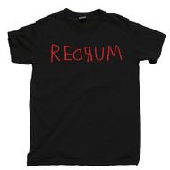 Redrum Black T Shirt Murder Spelled Backward Stanley Kubrick The Shining Black Tee