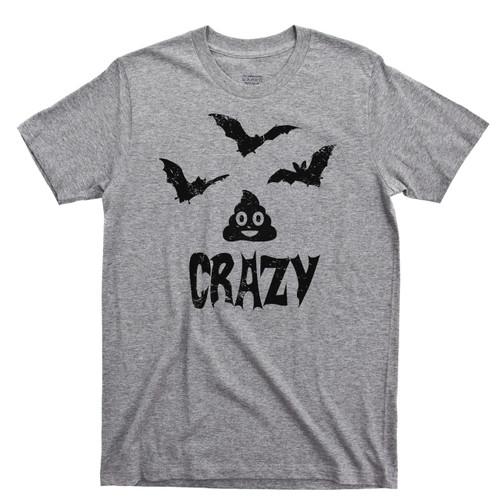 Bat Shit Crazy Sports Gray T Shirt Funny Halloween Sports Gray Tee