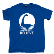 Loch Ness Monster T Shirt Believe In Nessie Royal Blue Tee