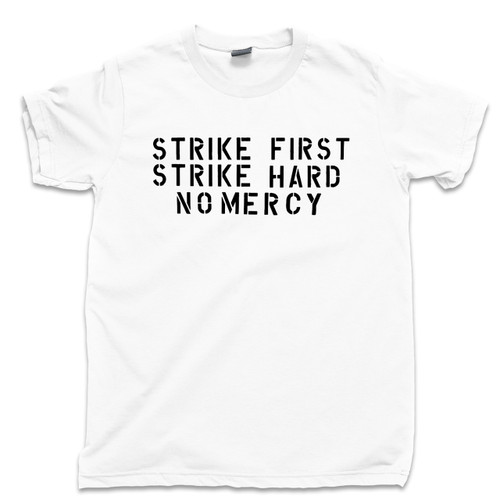 cf9ec9beb Karate Kid T Shirt Strike First Strike Hard No Mercy Cobra Kai Dojo Sweep  The Leg