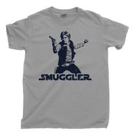 Han Solo T Shirt Smuggler Scoundrel Nerf Herder Millennium Falcon Sport Gray Tee