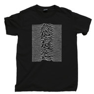 Joy Division T Shirt Unknown Pleasures Ian Curtis Black Tee