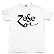 Jimmy Page Zoso T Shirt Led Zeppelin White Tee