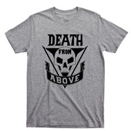 Starship Troopers Sport Gray T Shirt Death From Above Mobile Infantry Rico's Roughnecks Movie Tee