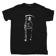 Grim Reaper Black T Shirt Chill Out I Came To Party Tee