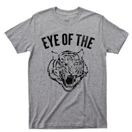 Eye Of The Tiger Sport Gray T Shirt Rocky Balboa Boxing Movie Survivor 80s Rock Music Tee