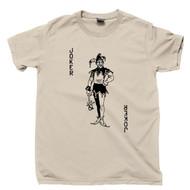 Joker Tan T Shirt Vintage Swap Playing Card Jester Ace King Queen Spade Tattoo Tee