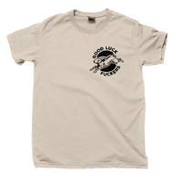 Lucky Rabbits Foot Tan Pocket Print T Shirt Good Luck Fuckers Lucky Charms Tee