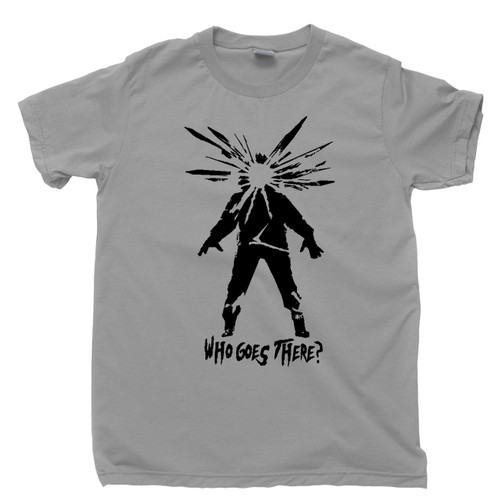 The Thing Gray T Shirt Who Goes There 1982 Kurt Russell John Carpenter Science Fiction Horror Movie Tee