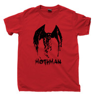 Mothman T Shirt Red Eyed Cryptid From Point Pleasant West Virginia Red Tee