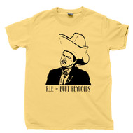 RIP Burt Reynolds T Shirt Turd Ferguson Alex Trebek Will Ferrell Sean Connery SNL Celebrity Jeopardy Yellow Tee