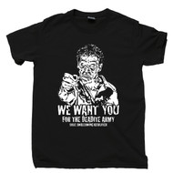 Deadite Army Recruiter T Shirt  Army Of Darkness Evil Dead Horror Movie Black Tee