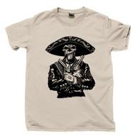 Skeleton Mariachi Gunslinger T Shirt Day Of The Dead Tattoo Calavera Sugar Skull Tan Tee