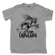 Chupacabra T Shirt Goat Sucker From Puerto Rico Cryptids Cryptozoology Legendary Creature Mythical Animal Gray Tee