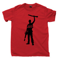 This Is My Boomstick T Shirt Army Of Darkness Evil Dead Bruce Campbell Sam Raimi Horror Movie Red Tee