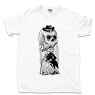 Jose Guadalupe Lagartijo T Shirt Calavera Maderista Famous Mexican Revolution Artist Day Of The Dead White Tee