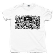 Jose Guadalupe Posada White T Shirt Calavera Oaxaquena From Oaxaca Famous Mexican Revolution Artist Day Of The Dead Tee
