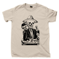 Jose Guadalupe Posada Tan T Shirt Manuel Manilla Alcoholica Tapatia Famous Mexican Revolution Artist Day Of The Dead Tee