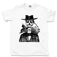 Jose Guadalupe Posada White T Shirt Cigarro Calavera Famous Mexican Revolution Artist Day Of The Dead Tee