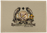 Custom Horned Owl Patrol Patch Flag with Colored Wings (SP5770)
