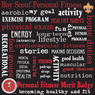 BSA Personal Fitness Words 12x12 paper
