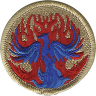 Red Flame Phoenix Patrol Patch