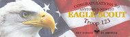 Custom Eagle Scout Banner with Eagle & Flag (SP6114)